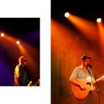 dwóch mężczyzn grających na gitarach
